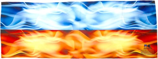Flames: Blue & Red Cooling Towel
