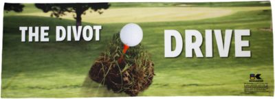 Golf Divot Drive Cooling Towel