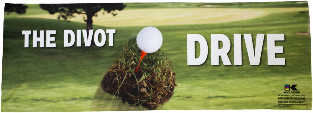 Golf Divot Drive Cooling Towel
