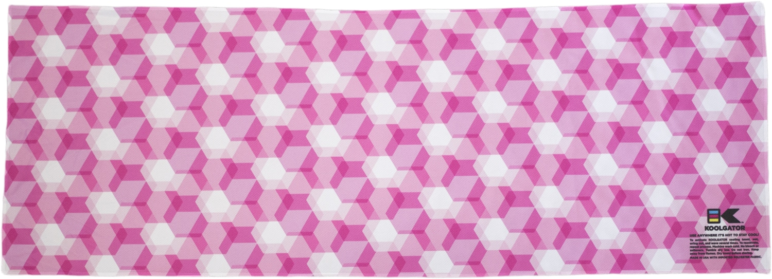 Pink Geometric Cooling Towel