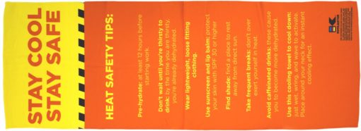 Safety Tips Cooling Towel
