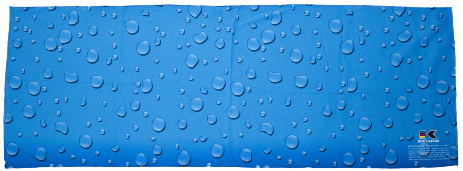 Water Drops Cooling Towel