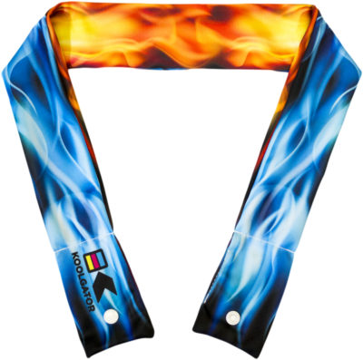 Flames: Blue & Red Cooling Neck Wrap