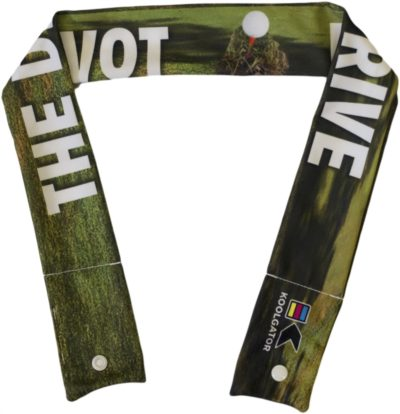 Golf Divot Drive Cooling Neck Wrap