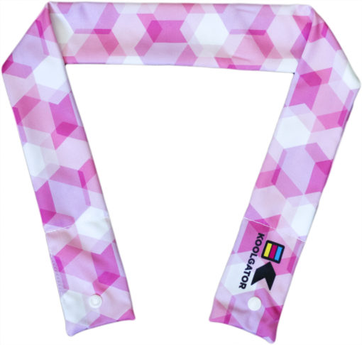 Pink Geometric Cooling Neck Wrap
